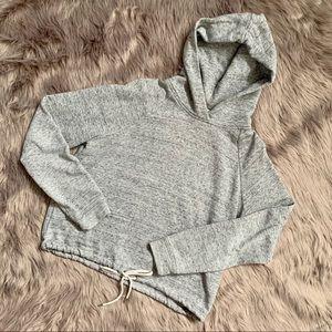 ARITZIA WILFRED FREE | Crop Grey Pullover Hoodie